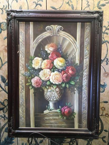 """Framed oil canvas, signed Jimy. 43"""" x 32"""""""