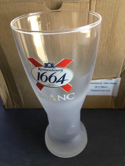 New, 12 pieces. Kronenbourg 1664 ( 0,25L) , beer glasses