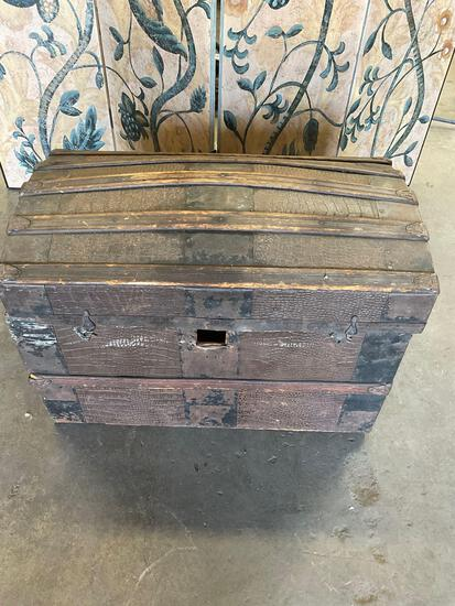 """Vintage truck with hardware accents. 22""""T x 28"""" W x 16"""" D"""