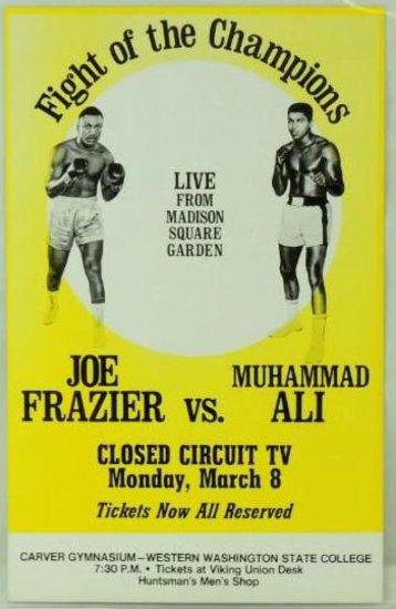 Joe Frazier vs Muhammad Ali Boxing Poster March 8th 1971