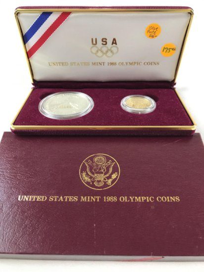 1988 Olympic Gold Silver Proof Coin Set