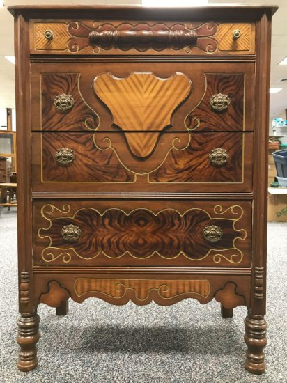 Heavily carved mahogany dresser 1940s