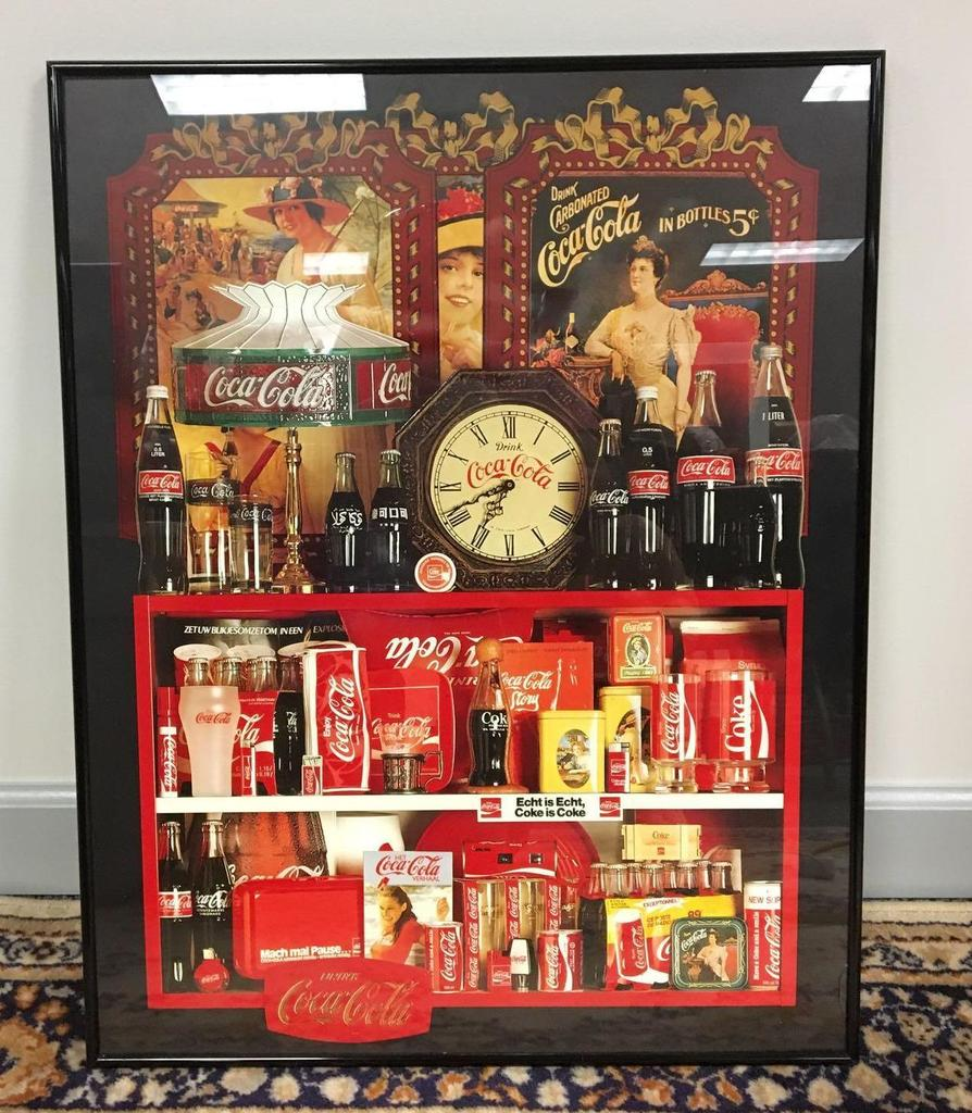 Lot: Coca-Cola collectible framed art | Proxibid Auctions