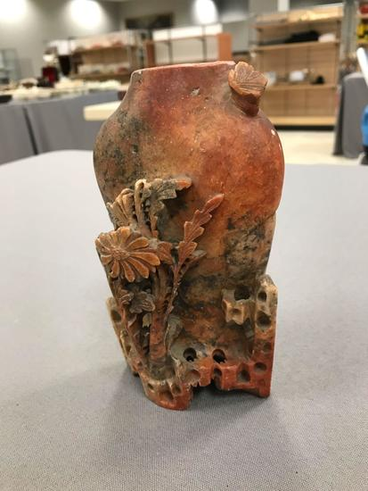 Hand Carved Soapstone Vase Auctions Online Proxibid