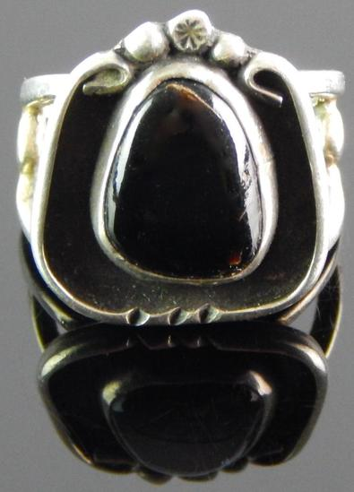 Black Onyx & Sterling Silver Ring