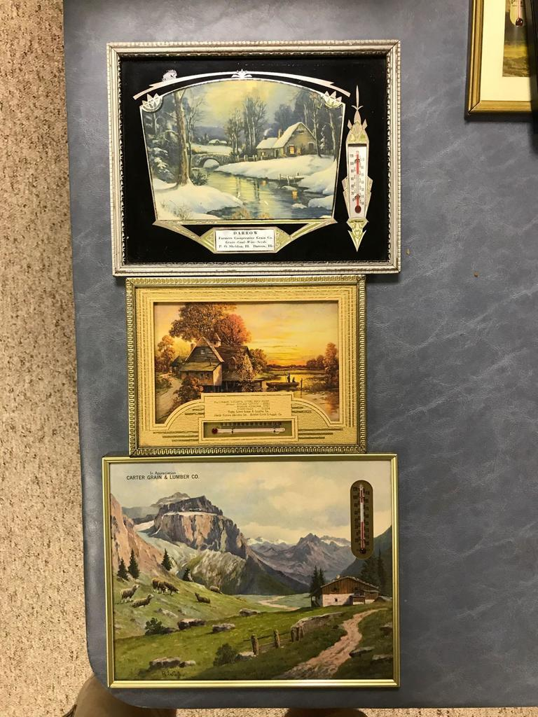 Lot: Group of three antique advertising Thermometers