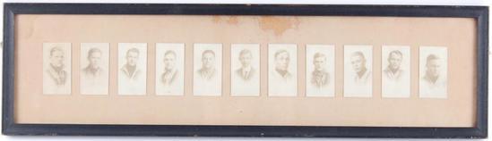 Antique 1913 WAHS Baseball Team Framed Photographs
