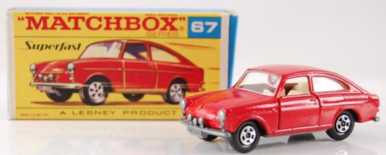 Matchbox Superfast No. 67 Red Volkswagon 1600 TL with Original Box