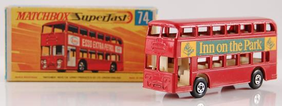 "Matchbox Superfast No. 74 Red ""Inn on the Park"" Daimler Bus with Original Box"