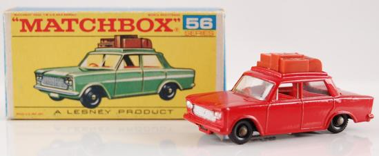 Matchbox No. 56 Red Fiat 1500 with Original Box