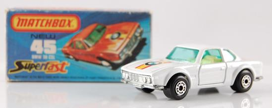Matchbox Superfast 75 No. 45 White Body BMW 30 CSL with Original Box