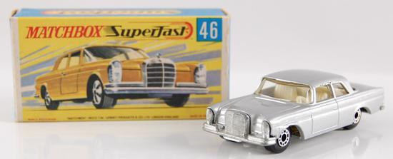 Matchbox Superfast No. 46 Silver Mercedes 300 SE with Origial Box