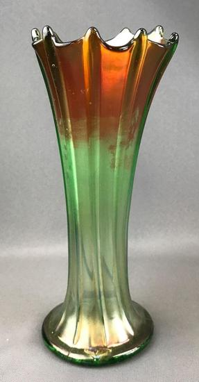 Vintage Iridescent Carnival Glass Vase