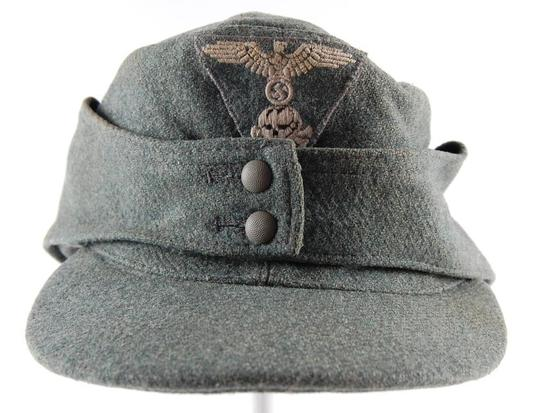 WW2 German M-43 Elisted Mans SS Cap   Firearms & Military