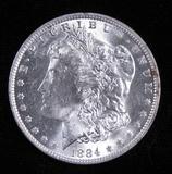 1884 O Morgan Dollar.