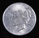 1927 Peace Dollar.