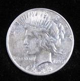 1928 S Peace Dollar.