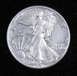 1941 Walking Liberty Half Dollar.