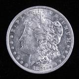 1881 O Morgan Dollar.