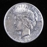 1927 S Peace Dollar.