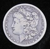 1884 S Morgan Dollar.