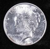 1923 D Peace Dollar.