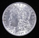 1887 Morgan Dollar.