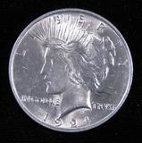 1924 Peace Dollar.