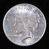 1926 S Peace Dollar.