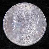 1883 O Morgan Dollar.
