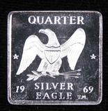 Art Bar: 1969 Quarter Silver Eagle 1/4oz. .999 Silver by Silver Eagles Sales Inc.