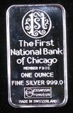 Art Bar: One Ounce .999 Silver Ingot?The First National Bank Of Chicago.