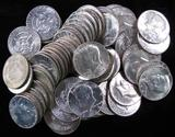 Lot of (60) Mixed Date 40% Silver Kennedy Half Dollars.
