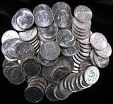 Lot of (100) Mixed Date 40% Silver Kennedy Half Dollars.