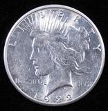 1922 S Peace Dollar.