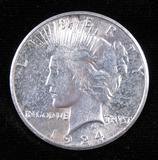 1924 S Peace Dollar.