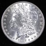 1884 Morgan Dollar.