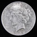 1927 D Peace Dollar.