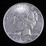 1934 D Peace Dollar.