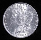 1886 Morgan Dollar.