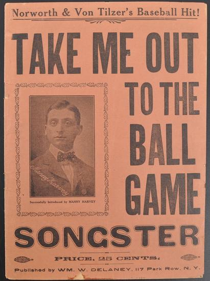 """Antique """"Take Me Out To The Ball Game"""" Sheet Music Book"""