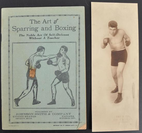 The Art of Sparring and Boxing Booklet with Photograph of Boxer