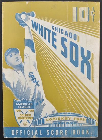 Chicago White Sox American League 1901-1951 Golden Anniversary Official Scrap Book