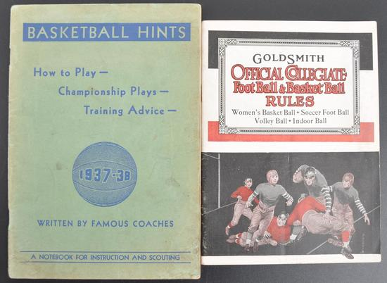 Group of 2 Antique Football and Basketball Rule Books