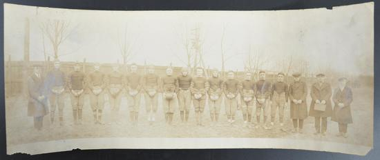 Antique Ford Factory Football Team Panoramic Photograph