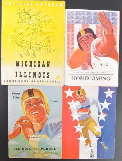 Group of 4 Antique College Football Souvenir Programs
