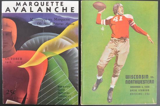 Group of 2 Antique College Football Souvenir Programs