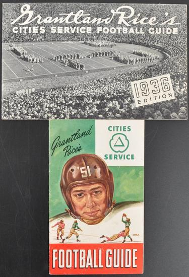 Group of 2 1936 and 1951 Cities Service Football Guides