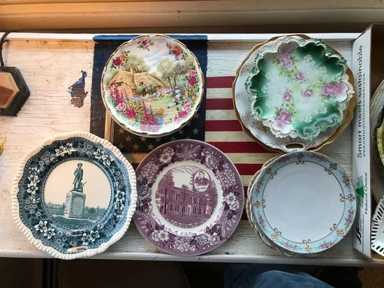 Group of antique and vintage plates