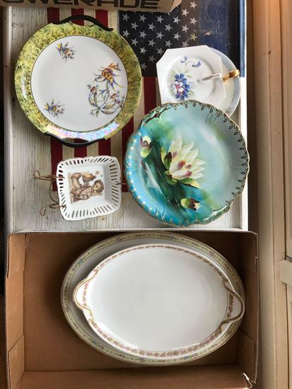 A group of vintage plates
